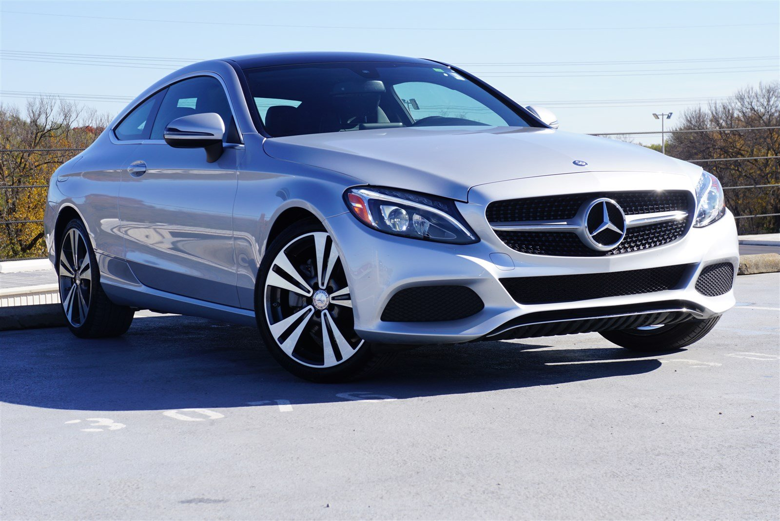 pre-owned 2017 mercedes-benz c-class c 300 2d coupe in frisco